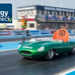 The Energy Check lines up as official lane sponsor at Santa Pod Raceway